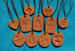 Terra Cotta Pendants - group photo!