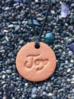 The Joy Terra Cotta Pendant diffuser necklace