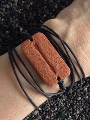 Close-up of the Arrow Wrap Diffuser Bracelet
