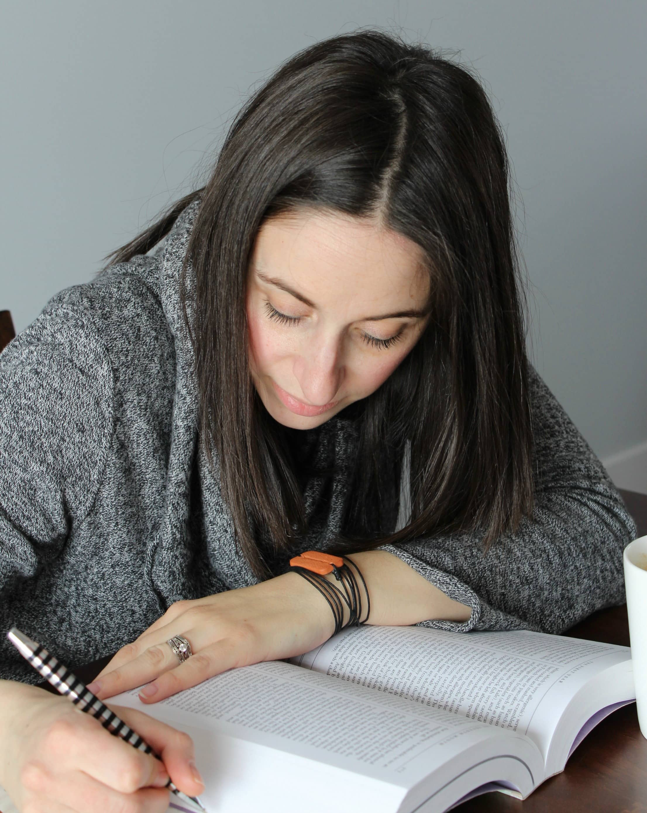 The Arrow Wrap Diffuser Bracelet is perfect for diffusing essential oils while studying